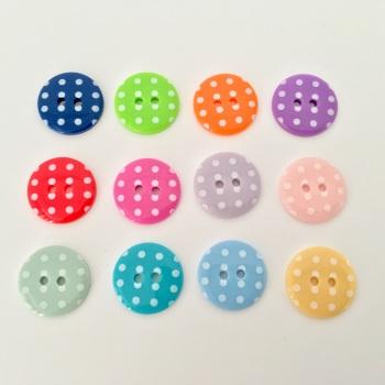 18mm Polka Dot Buttons