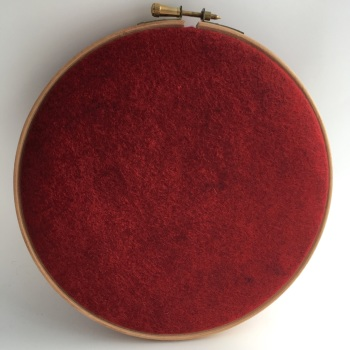 Barnyard Red Wool Blend Felt