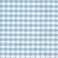 100% Cotton Le Tissu by Domotex - Mod Scallops  - Blue