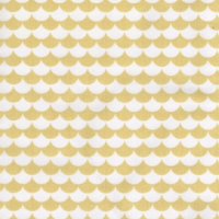 100% Cotton Le Tissu by Domotex - Mod Scallops - Yellow