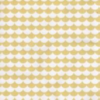 100% Cotton Le Tissu by Domotex - Mod Scallops - Yellow