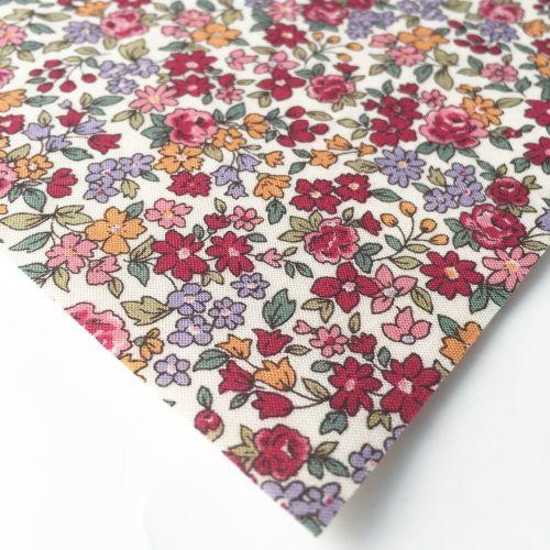 Frou Frou - Fleuri 19 Rubis Eclatant - Felt Backed Fabric