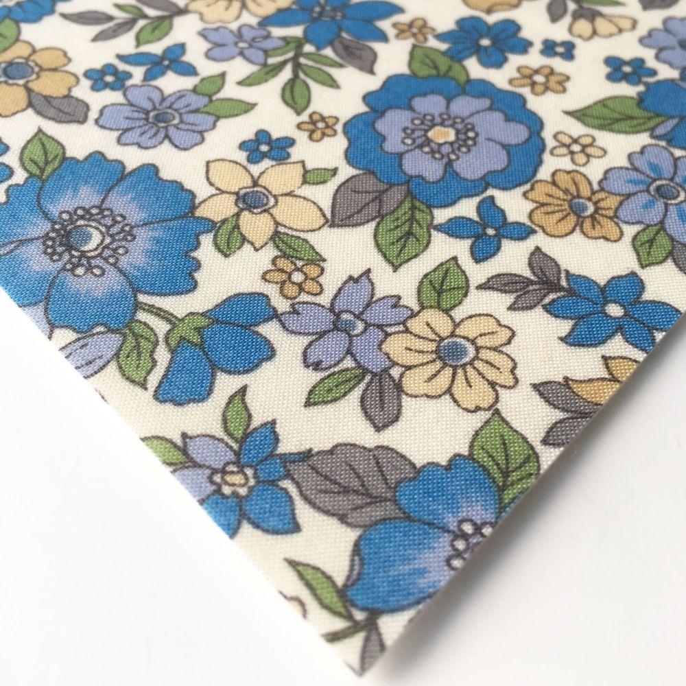 Frou Frou - Fleuri 16 Ciel Intense - Felt Backed Fabric