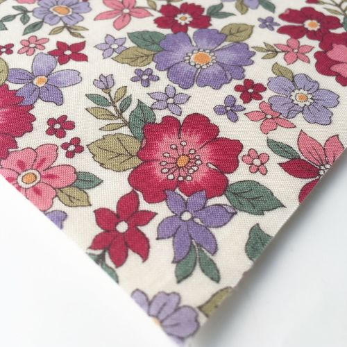 Frou Frou - Fleuri 20 Rubis Eclatant - Felt Backed Fabric