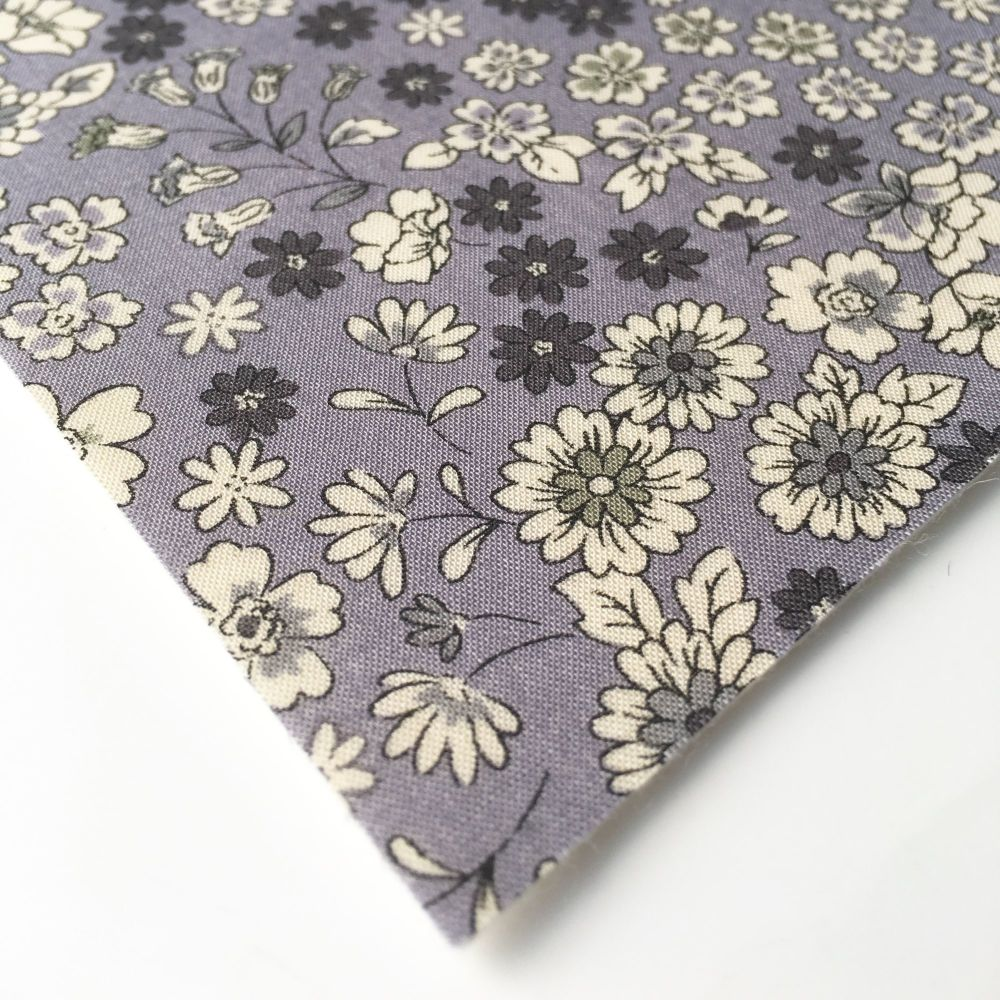 Frou Frou - Fleuri 6 Lavande - Felt Backed Fabric