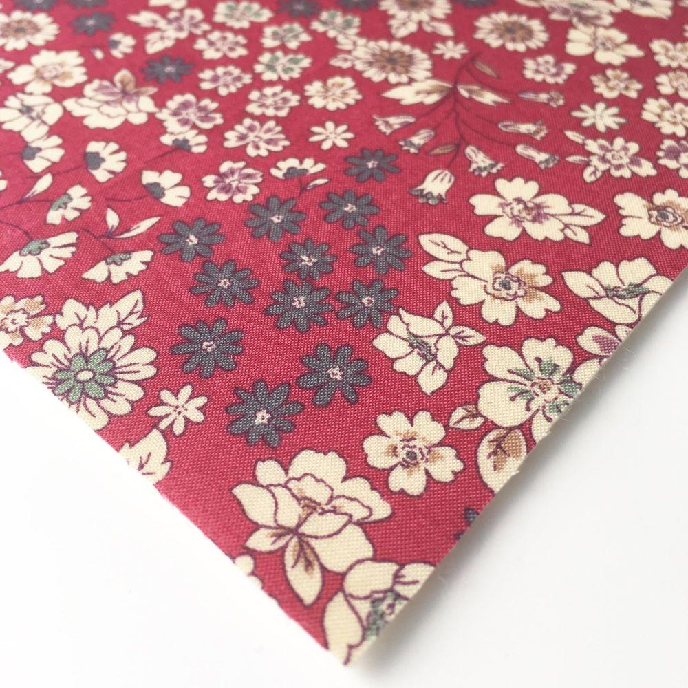 Frou Frou - Fleuri 21 Rouge - Felt Backed Fabric