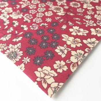 Frou Frou - Fleuri 21 Rouge - Felt Backed Fabric