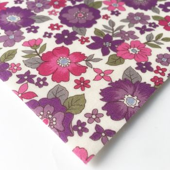 Frou Frou - Fleuri 12 Lavende Rosee Large - Felt Backed Fabric