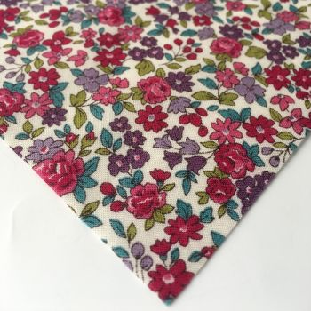 Frou Frou - Fleuri 13 Bordeaux Glamour - Felt Backed Fabric