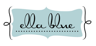 Felt Backed Fabric - Ella Blue