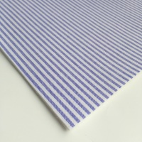 Chambray Candy 3mm Stripe - Lilac - Felt Backed Fabric