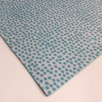 Reverse Teal Flurry by Dashwood Studio - Felt Backed Fabric