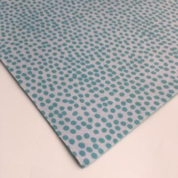 Reverse Teal Flurry by Dashwood Studio - Felt Backed Fabric