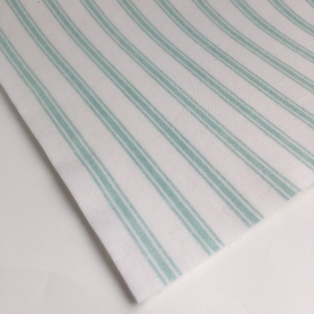 Lewis and Irene So Darling! - Mint Ticking Stripe - Felt Backed Fabric