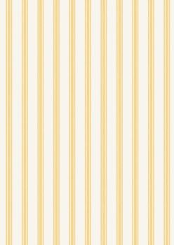 Lewis and Irene So Darling! - Lemon Ticking Stripe - Felt Backed Fabric