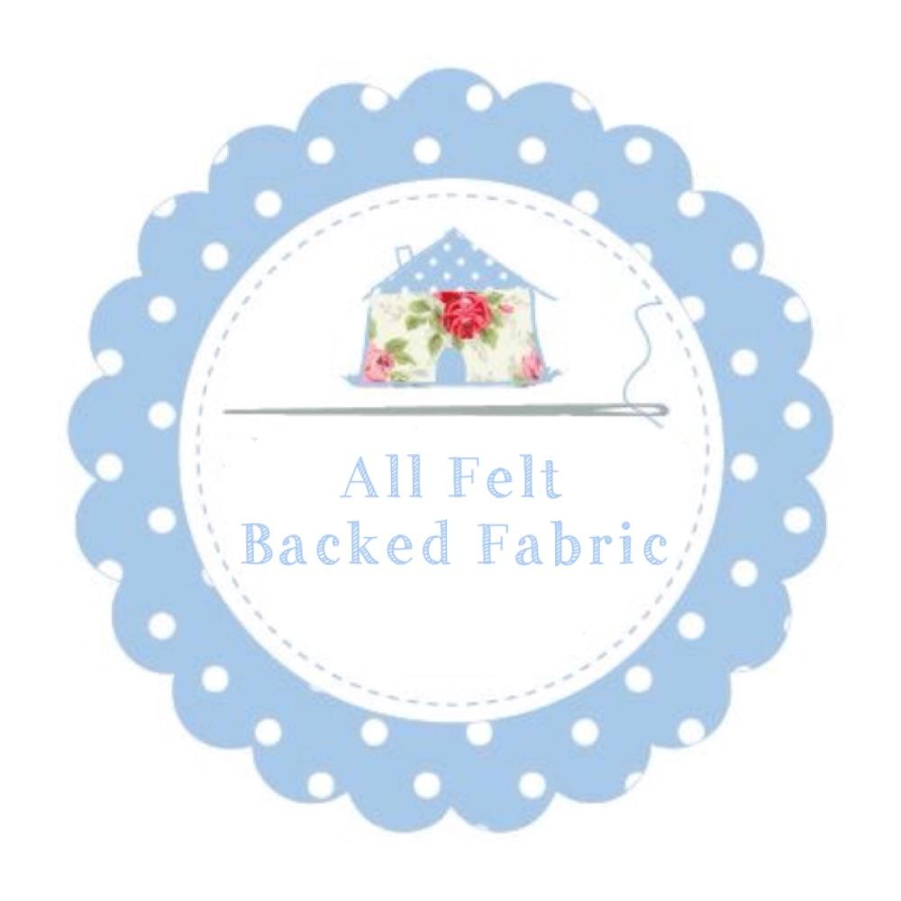 All Felt Backed Fabric
