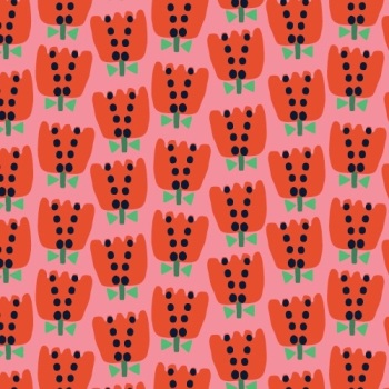 Eden Pop by Dashwood Studio - Tullips - Felt Backed Fabric