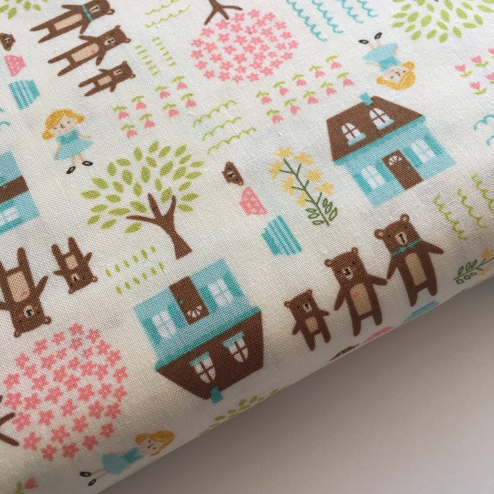 Home Sweet Home by Moda Fabrics - Goldie and the Three Bears - Felt Backed