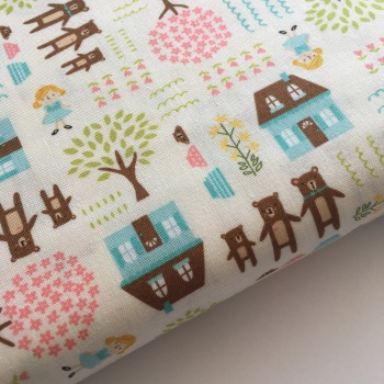 Home Sweet Home by Moda Fabrics - Goldie and the Three Bears - Felt Backed Fabric