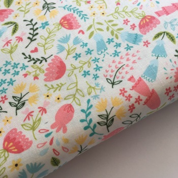 Home Sweet Home by Moda Fabrics  - Forest Flora - Felt Backed Fabric