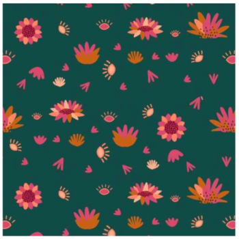 Serengeti by Dashwood Studio - Spruce Flower - Felt Backed Fabric