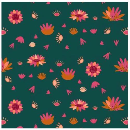 Serengeti by Dashwood Studio - Spruce Flower - Felt Backed Fabric