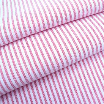 Chambray Candy 3mm Stripe - Red