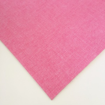Chambray Plain - Mid Pink - Felt Backed Fabric