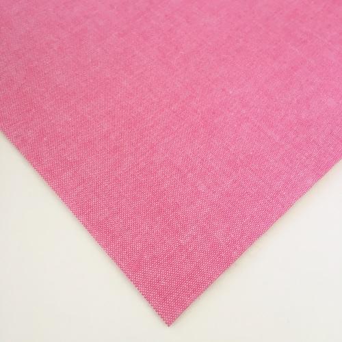 Chambray Plain - Mid Pink - Felt Backed Fabric