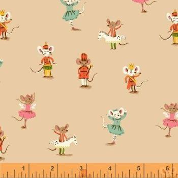 Sugarplum By Blend - Nutcracker Mice Pink - Felt Backed Fabric