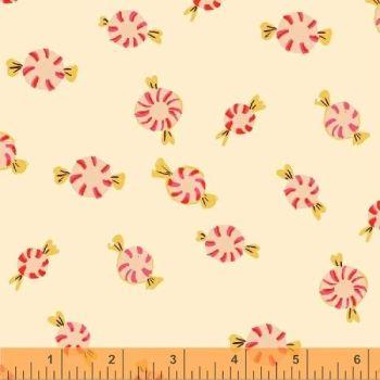 Sugarplum By Blend - Peppermints Cream - Felt Backed Fabric