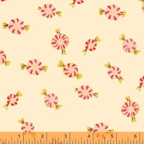 Sugarplum By Blend - Peppermints Cream - Felt Backed Fabric