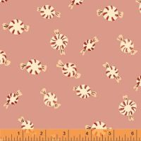 Sugarplum By Blend - Peppermints Pink - Felt Backed Fabric