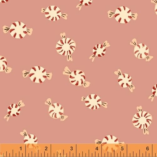 Sugarplum By Blend - Peppermints Pink - Felt Backed Fabric
