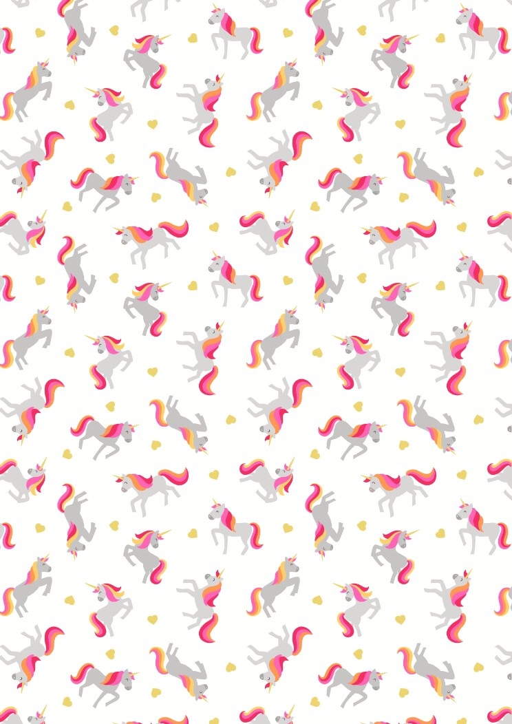 Lewis and Irene Small Things...Mystical and Magical - Unicorns on Cream (wi
