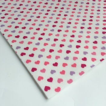 Felt Backed Fabric - Hearts and Stars
