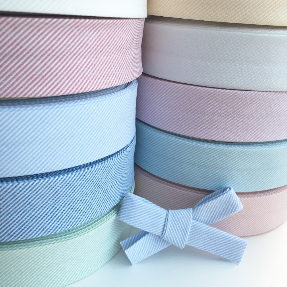 30mm Woven Diagonal Stripe Textured Bias Binding