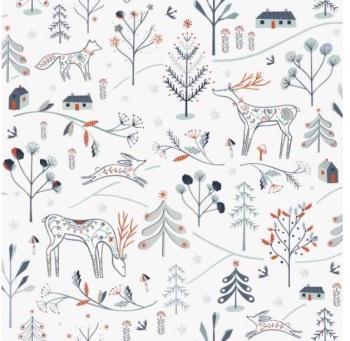 Dashwood Studio - Winterfold - White Woodland Creatures Copper Metallic