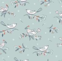 Dashwood Studio - Winterfold - Birds on Grey Copper Metallic