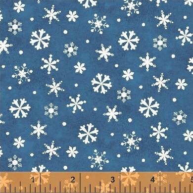 Windham Fabrics - Winter Wishes - Snowflakes Blue