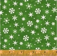 Windham Fabrics - Winter Wishes - Snowflakes green