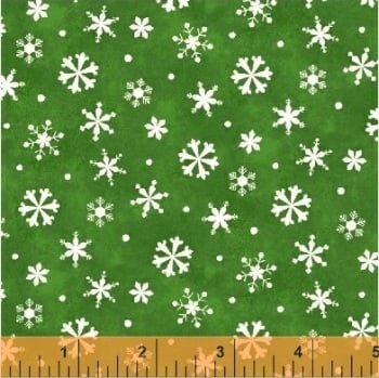 Windham Fabrics - Winter Wishes - Snowflakes green