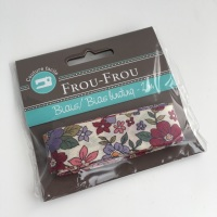 Frou Frou Bias Binding Fleuri 20 Rubis Eclatant Large