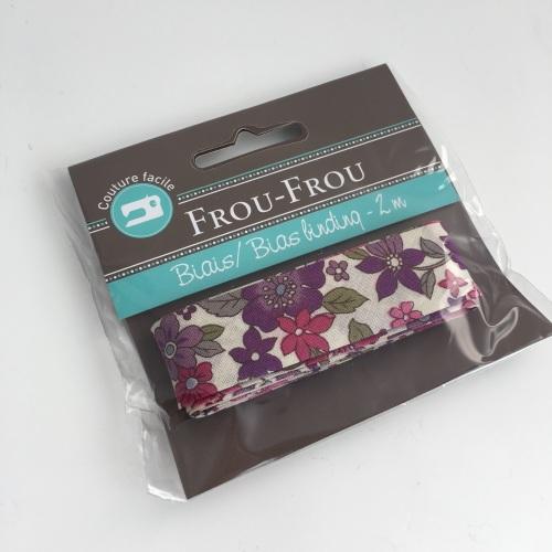 Frou Frou Bias Binding Fleuri 12 Lavande Rosee Large