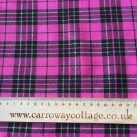 Tartan - Metallic Pink - Felt Backed Fabric