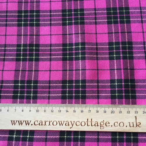 Tartan - Metallic Pink - Felt Backed Fabric