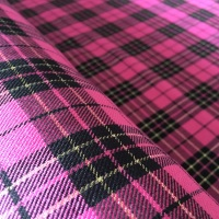 Polyviscose Tartan - Metallic Pink