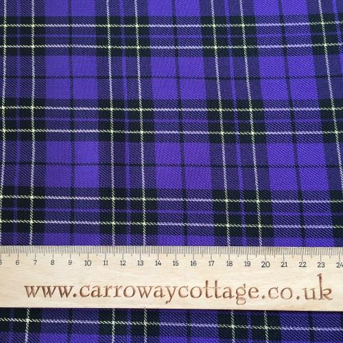 Tartan - Metallic Purple - Felt Backed Fabric