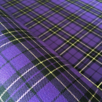 Polyviscose Tartan - Metallic Purple