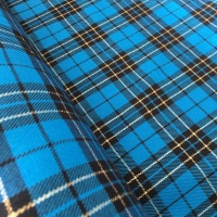 Polyviscose Tartan - Metallic Blue